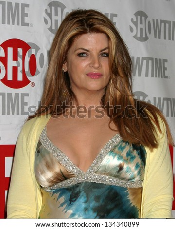 "HOLLYWOOD - FEBRUARY 23: Kirstie Alley at the screening of Showtime's new series ""Fat Actress"" at Cinerama Dome on on February 23, 2005 in Hollywood, CA"