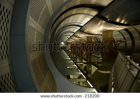 Hollywood & Highland subway station right under the heart of Hollywood and the Kodak Theatre. California. - stock photo