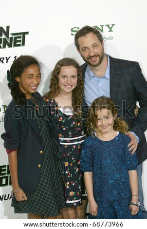 "HOLLYWOOD - JAN. 10:  Judd Apatow arrives at the ""The Green Hornet"" premiere at Grauman's Chinese Theatre on Jan. 10, 2011 in Hollywood, CA. - stock photo"