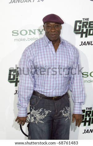 """HOLLYWOOD - JAN. 10:  Michael Clarke Duncan arrives at the """"The Green Hornet"""" premiere at Grauman's Chinese Theatre on Jan. 10, 2011 in Hollywood, CA. - stock photo"""