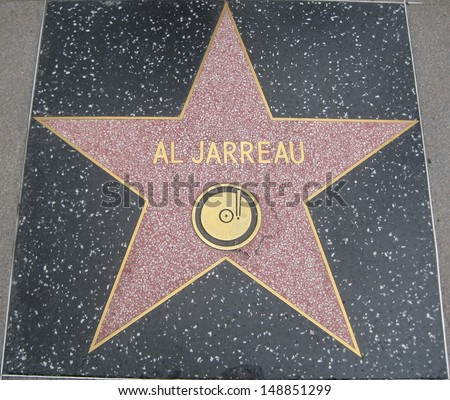 HOLLYWOOD - JULY 11: Al Jarreau's star on Hollywood Walk of Fame on July 11, 2013 in Hollywood, California. This star is located on Hollywood Blvd. and is one of 2400 celebrity stars.