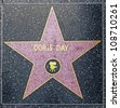 HOLLYWOOD - JUNE 24: Doris Days star on Hollywood Walk of Fame on June 24, 2012 in Hollywood, California. This star is located on Hollywood Blvd. and is one of 2400 celebrity stars. - stock photo