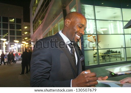 "HOLLYWOOD - MARCH 5: Actor Morris Chestnut attends premiere for ""The Call"" March 5, 2013 at the Arclight Theatre Hollywood, CA. - stock photo"