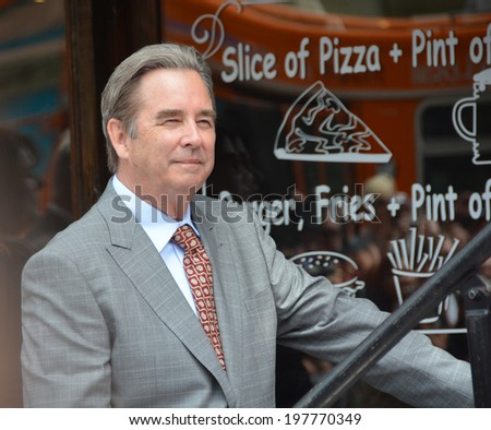 HOLLYWOOD - MAY 5: Beau Bridges at  Sally Field's star celebration on 5 May in 2014 at the Walk of Fame in Hollywood - stock photo
