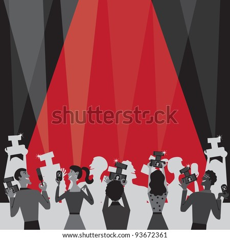 Hollywood Movie Award Party Invitation with plenty of room for your information - stock photo
