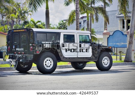 Hollywood police emergency 911 car - stock photo