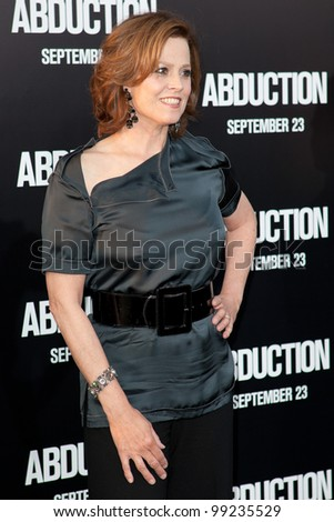 HOLLYWOOD - SEPT 15: Actress Sigourney Weaver arrives at the world premiere of 'Abduction' at Grauman's Chinese Theater on Sept 15 2011 in Hollywood.