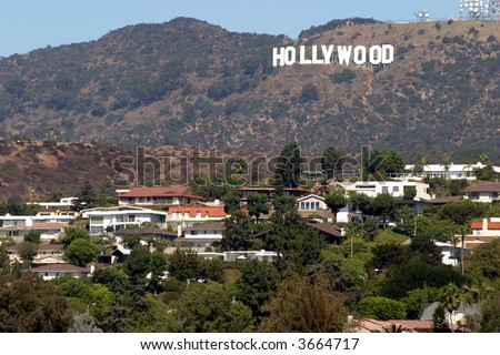 Hollywood sign, Los Angeles - stock photo