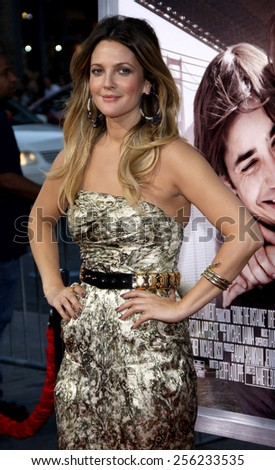 """HOLLYWOOD, USA - AUGUST 23: Drew Barrymore at the Los Angeles Premiere of """"Going The Distance"""" held at the Grauman's Chinese Theatre in Los Angeles, USA on August 23, 2010. - stock photo"""