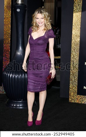 "HOLLYWOOD, USA - DECEMBER 5: Michelle Pfeiffer at the Los Angeles Premiere of ""New Year's Eve"" held at the Grauman's Chinese Theatre in Los Angeles, USA on December 5, 2011. - stock photo"