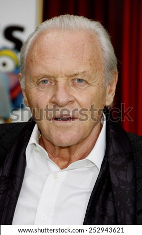 "HOLLYWOOD, USA - NOVEMBER 12: Sir Anthony Hopkins at the World Premiere of ""The Muppets"" held at the El Capitan Theater in Los Angeles, USA on November 12, 2011."