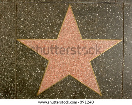 Hollywood Walk of Fame Star - stock photo