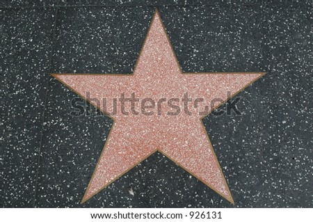 Hollywood walk of fame star (blank real star) - stock photo