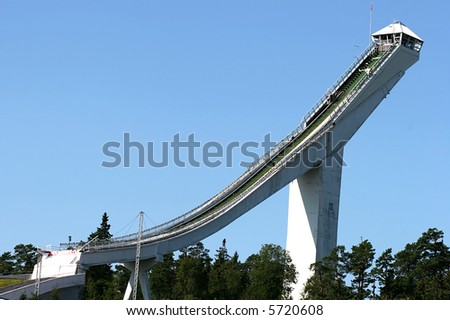 Holmenkollen Ski Jumping, Oslo, Norway - stock photo