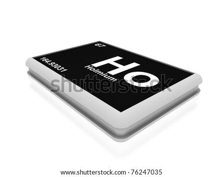 Holmium button - stock photo
