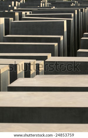 Holocaust monument in Berlin, Germany - stock photo