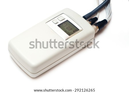 Holter heart monitor isolated on white