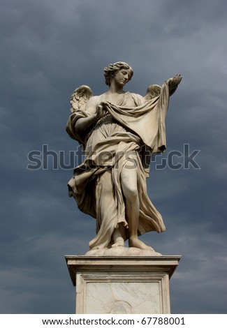 Holy angel with a tissue, Rome, Italy - stock photo