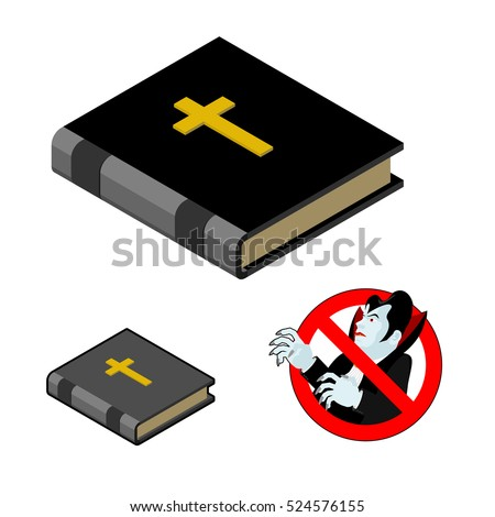 Holy Bible against vampires. Ban Dracula. Anti Vampire tool. Destruction and extermination of ghoul. Elimination of undead