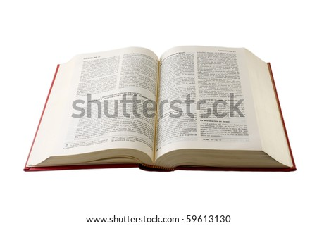 holy Bible in spanish - stock photo