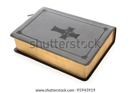 Holy Bible isolated on white - with clipping path