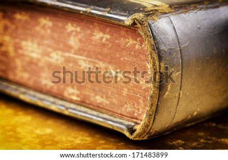 Holy Bible (macro photo) - stock photo