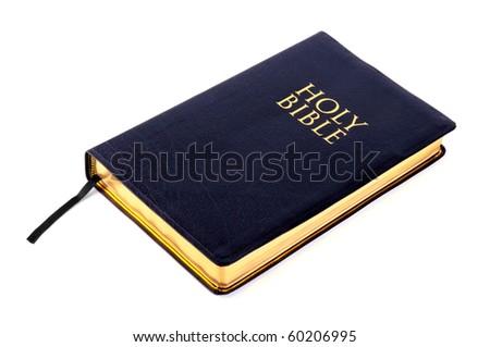 Holy Bible on white background - stock photo