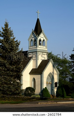 Holy Cross Episcopal Church Middletown Rhode Island - stock photo