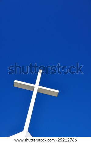 Holy Cross in the sky. - stock photo