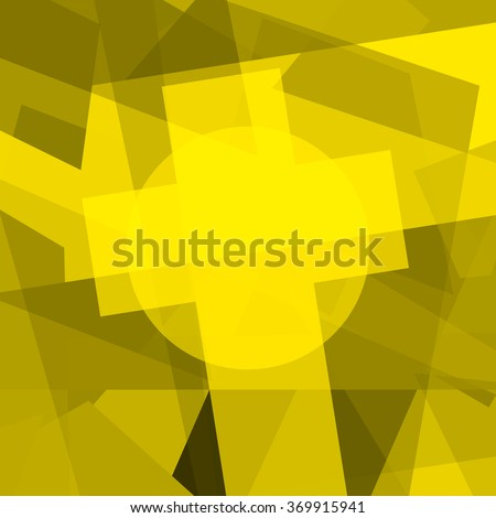 Holy Cross shining - stock photo