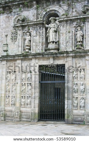 Holy Door of the Cathedral of Santiago de Compostela, Spain - stock photo