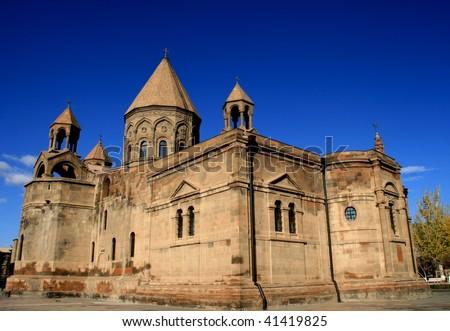 Holy Edjmiadzin,Armenia - stock photo