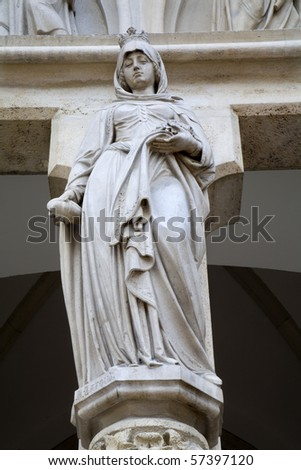 holy Elizabeth from Hungary - portal from st. Elizabeth church in Vienna