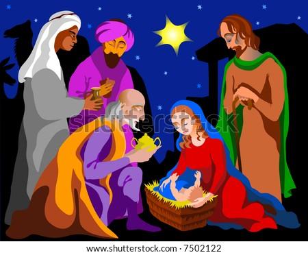 Holy Family - stock photo