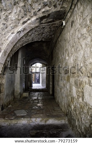 Holy land peace and war land of Israel and jerusalem tourism - stock photo