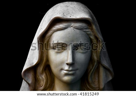 Holy Mary statue portrait - stock photo