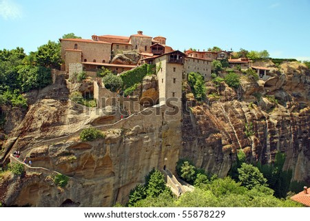 Holy monasteries in Greece placed on inaccessible rocks