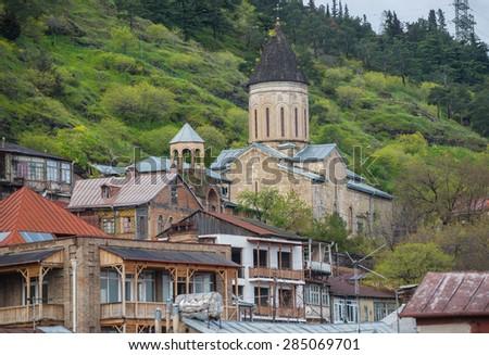 Holy Mother of God Church of Bethlehem in Tbilisi, Georgia - stock photo
