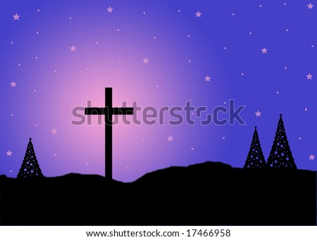 holy night .jpg with copy space. - stock photo