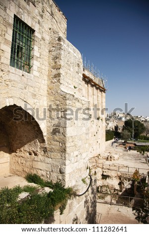 Holy place for islam and judaism in Hebron Machpela cave