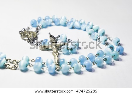 Holy Rosary.Latin: rosarium, in the sense of crown of roses or garland of roses, is a form of prayer used in the Church named for the string of prayer beads used to count the component prayers