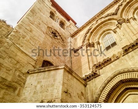 Holy Sepulcher entrance  - stock photo