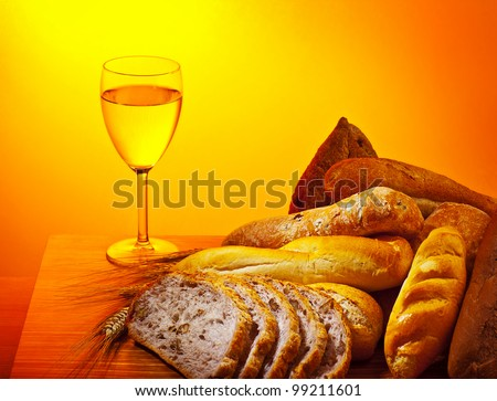 Communion Bread And Wine Stock Images, Royalty-Free Images ...