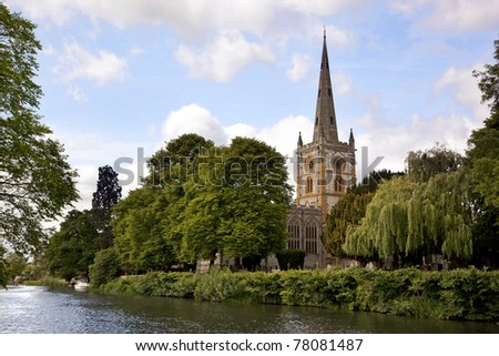 Holy Trinity Church, Stratford - upon-Avon. - stock photo