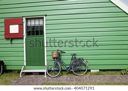 Home and bicycle in Netherlands, Holland