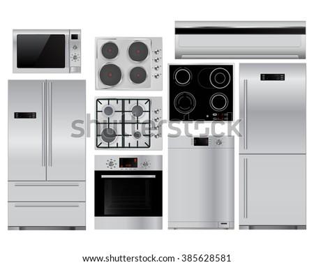 Home appliances.   illustration isolated on white background. Raster version - stock photo