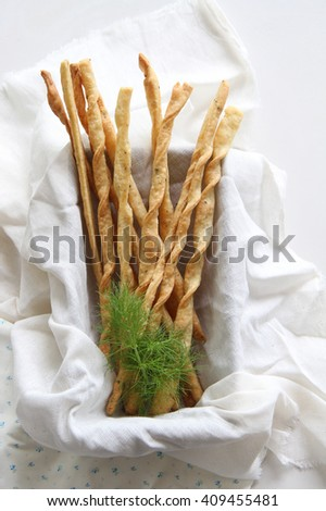 Home baked cheese straws with fennel