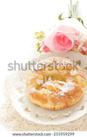 Home bakery, corn flake and custard cream bread - stock photo
