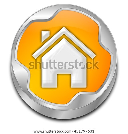 Home Button - 3D illustration - stock photo