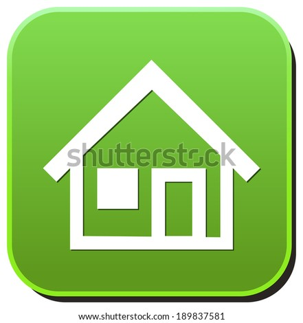 Home button / icon - stock photo